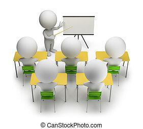 訓練, 人們, -, 課程, 小, 3d