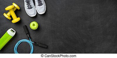 設備, 模仿, 背景, 健身, 黑暗, 空間