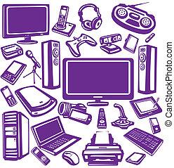 設備, 電子學, 集合, 圖象, 計算机
