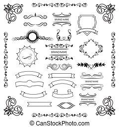 設計, 圖表, 集合, 元素