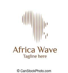 設計, 插圖, 波浪, 樣板, 標識語, 現代, 矢量, african