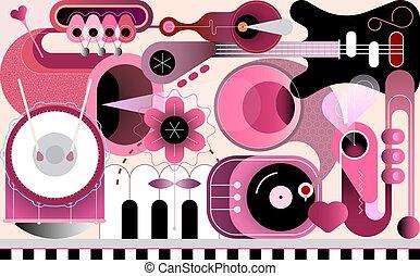 設計, 摘要, 音樂