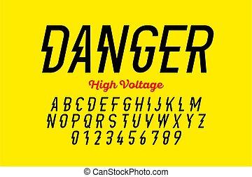 設計, 電壓, danger!, hight, 風格, 洗禮盆, 現代