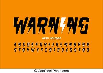 設計, 電壓, hight, 風格, warning!, 洗禮盆