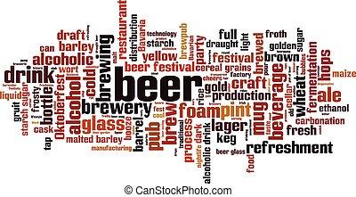 詞, 啤酒, 雲