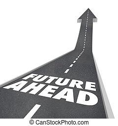 詞, 在前, 向上, 未來, 箭, 明天, 路