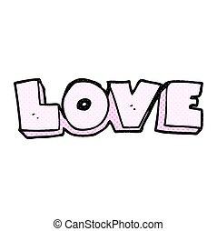 詞, 愛, 卡通