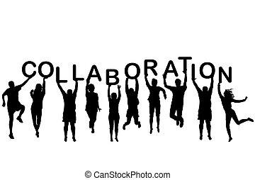 詞, 藏品, 人們, 合作, 黑色半面畫像, 信