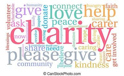 詞, 雲, 慈善