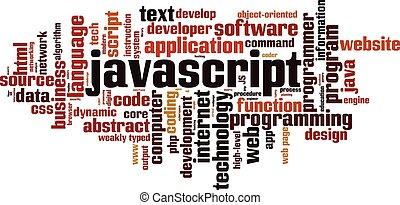 詞, 雲, javascript