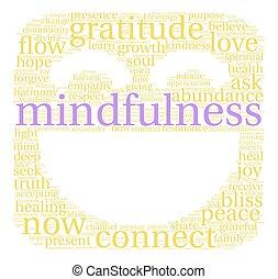 詞, 雲, mindfulness