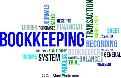 詞, bookkeeping, -, 雲