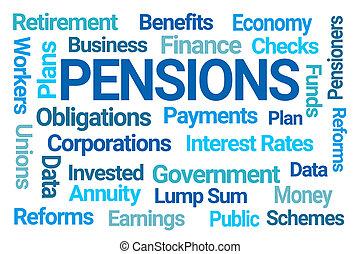 詞, pensions, 雲