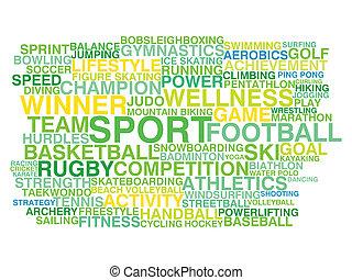 詞, sport., 概念, 種類, 雲