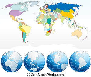 詳細, 地圖, 世界