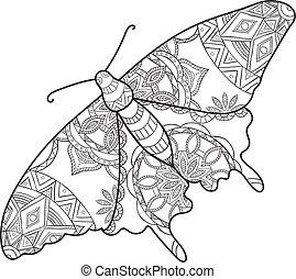 詳細, 裝飾, 略述, moth