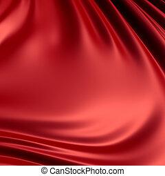 詳細, series., render., 背景, /, 布, 打掃, material., 弄皺, 紅色