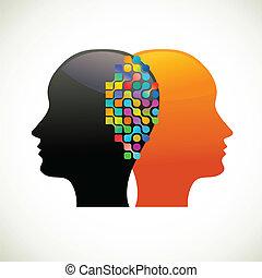 認為, 人們, 通訊, 談話