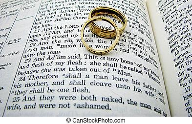 誓約, 二, rings., 書, 婚禮, 起源, 首先