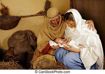 誕生, 生活, 圣誕節場景