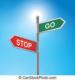說, 停止簽署, 去, 路, 3d