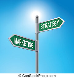 說, 銷售, 簽署, 戰略, 路, 3d