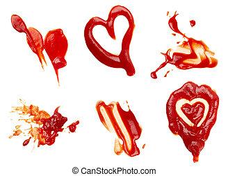 調味品, 蕃茄沙司, 瑕疵, 骯髒, 食物, 調味品