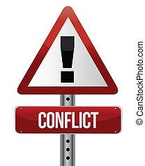 警告, 衝突, 簽署