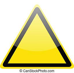 警告, 黃色, 危險, 空白