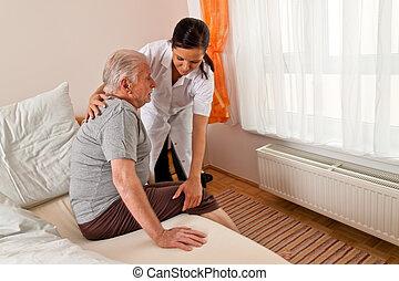 護士, 老年, 關心