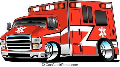護理人員, 紅色, 救護車