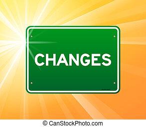 變化, 綠色, 簽署