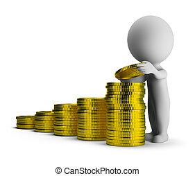 財政成功, 人們, -, 小, 3d