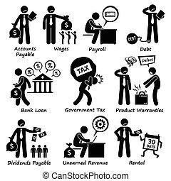 責任, pictogra, 公司, 事務