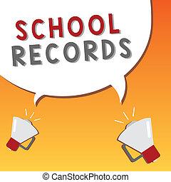 資訊, 學校, records., 事務, 相片, 顯示, 大約, 寫, 筆記, 孩子, showcasing, kept, 傳記