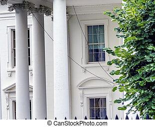 賓夕法尼亞, 房子, 華盛頓特區, 紀念碑, ave, 白色