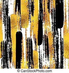 質地, 略述, eps10, elements., 金, 畫, 心不在焉地亂寫亂畫, seamless, 插圖, 手, blog, 矢量, 設計, 背景, 墨水, 時髦, 黑色