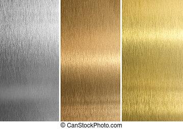 質地, 縫, 黃銅, 青銅, 鋁