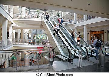購物中心, 電動扶梯