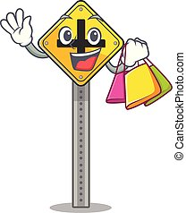購物, 被隔离, 字, 十字路口, 簽署
