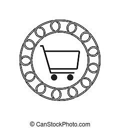 購物, technology., concept., blockchain, 未來, 圖象