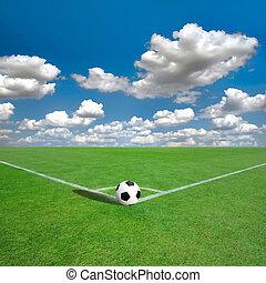 足球場, 標記, 角落, 白色, (soccer)
