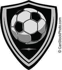 足球, 盾, 樣板