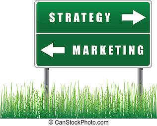 路標, marketing., 戰略