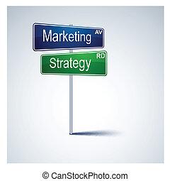 路, 戰略, 方向, 徵候。, 銷售