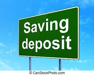 路, 節省錢, 簽署, 存放, 背景, concept: