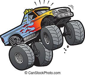 跳躍, 卡車, 怪物