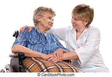 輪椅, 婦女, 年長