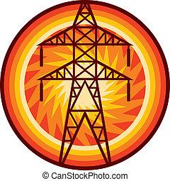 輸電線, 符號