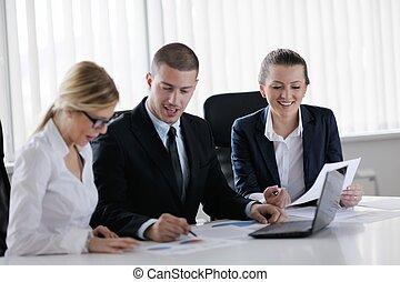辦公室人們, 會議, 事務